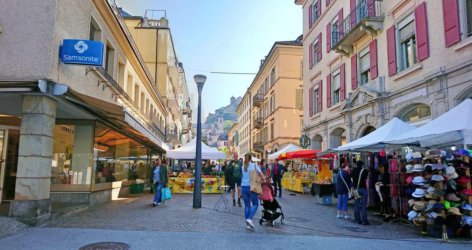Rue de Lausanne à Sion