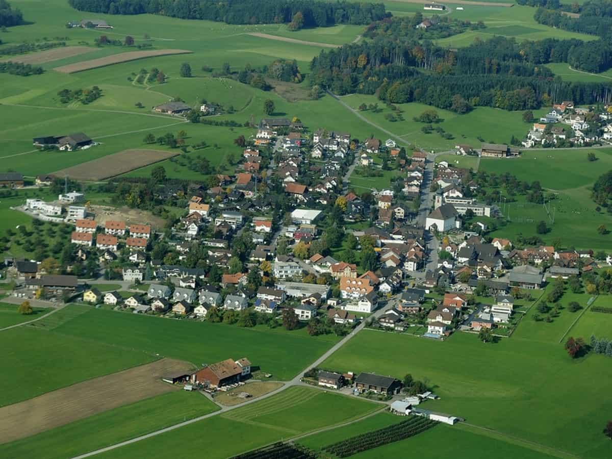 Aerial View of Niederhelfenschwil