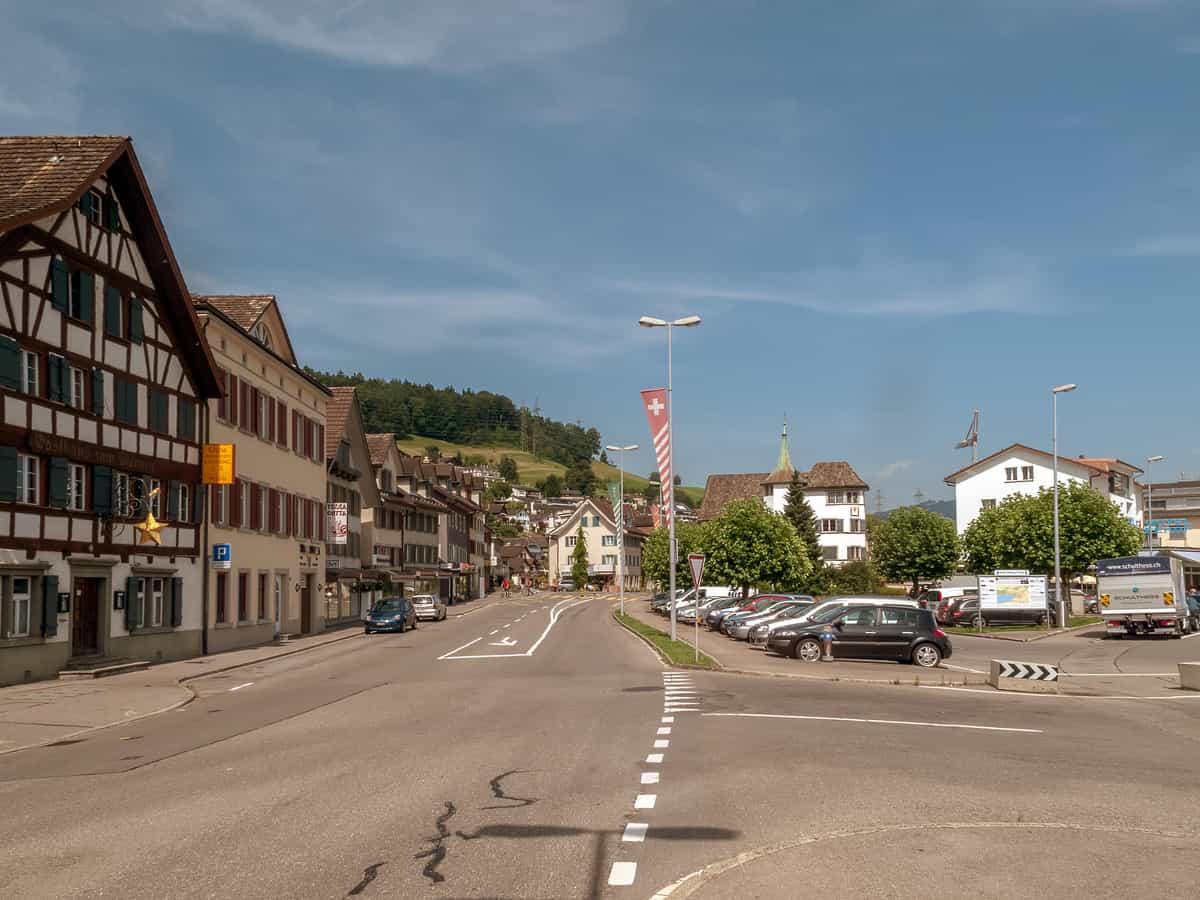 Die Hauptstrasse in Schmerikon