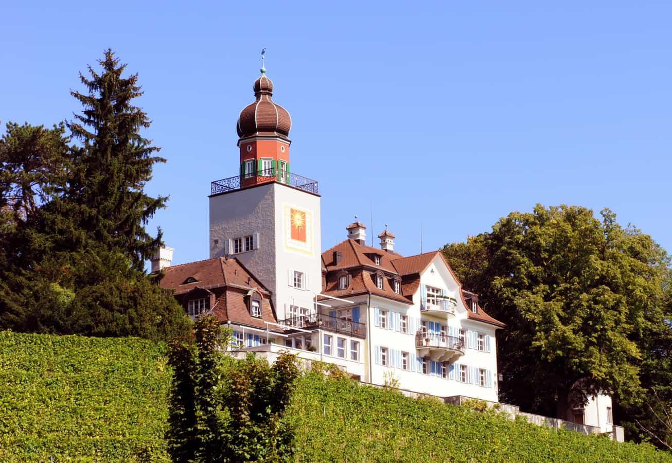 Schloss Heerbrugg, Schlossstrasse 209, in Balgach (Blick von Südwesten)