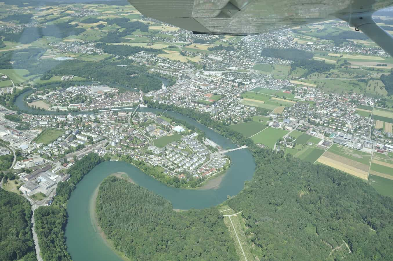 Bremgarten AG (Aargau) aus der Luft