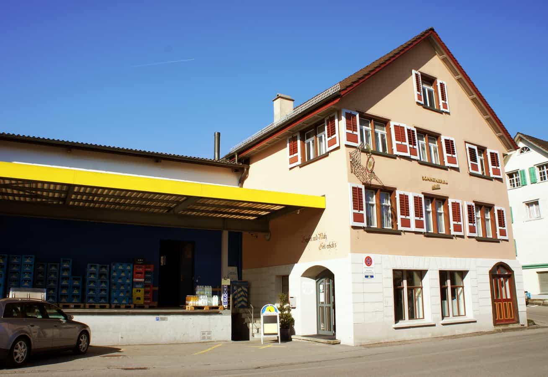 Brauerei Sonnebräu mit dem ehemaligen Restaurant Sonne
