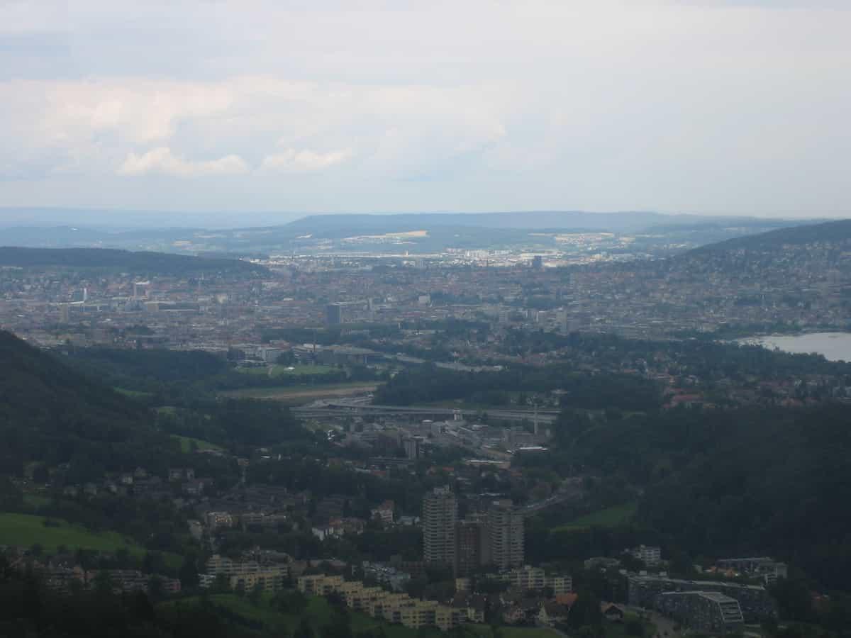 Adliswil, Blick nach Nordosten