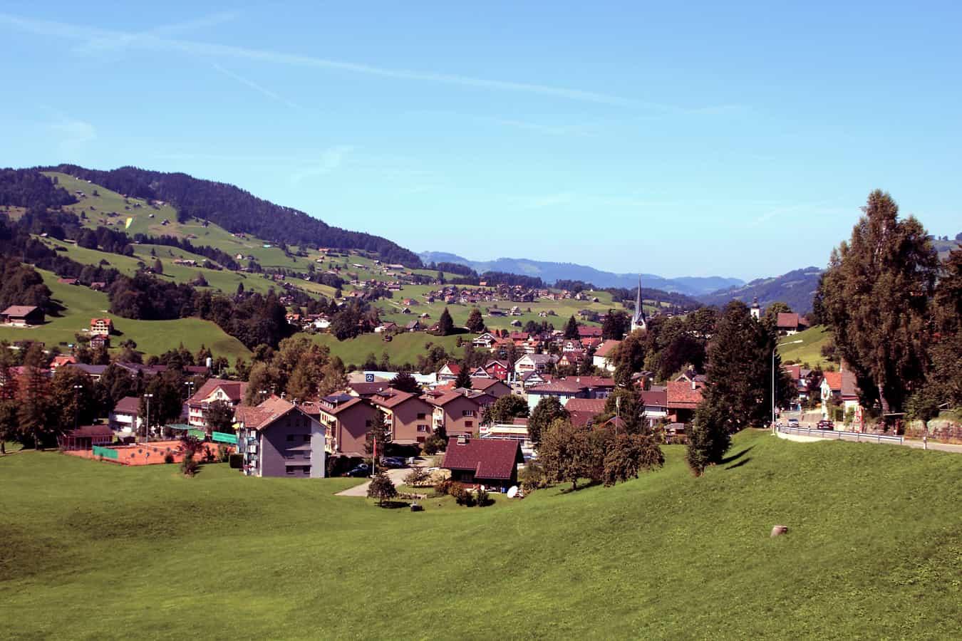 Dorf Nesslau