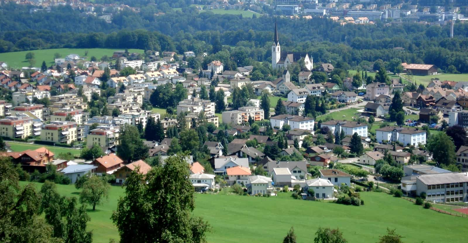 Blick auf das Dorf Abtwil
