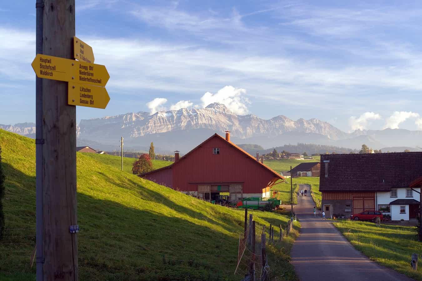 Der Säntis von Andwil gesehen