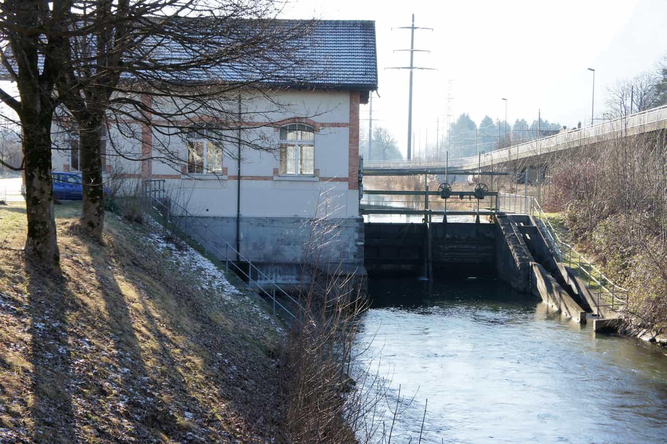 Die Zentrale Oberriet der Rheintaler Binnenkanalkraftwerke.