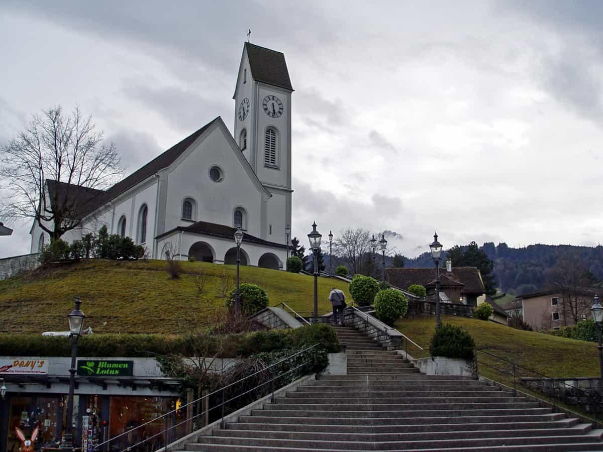 Katholische Kirche St. Gallus im Zentrum von Kriens