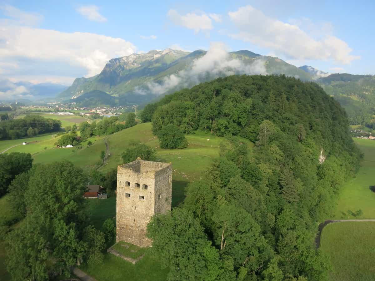 Burgruine 'Schloss Blatten' in Oberriet im St. Galler Rheintal