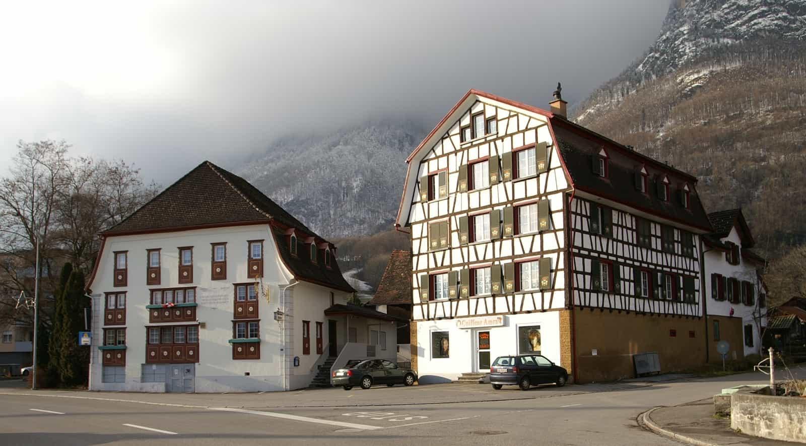 Historische Häuser in Sennwald