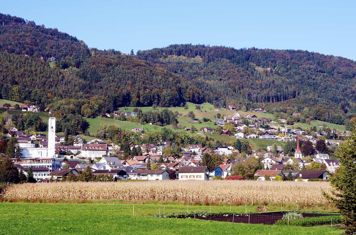 Dorf Rebstein von Süden gesehen