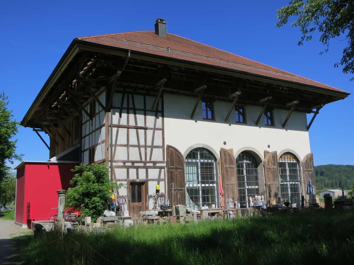 Der 1847 fertiggestellte Tröckneturm im Sulzerhof diente zum Trocknen der gefärbten Baumwolltücher.