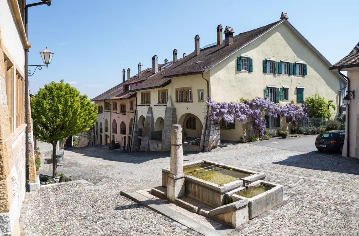 Obere Altstadt aus Blickrichtung Schloss