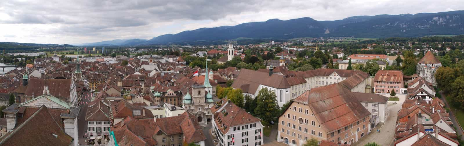 Panorama der Altstadt von Solothurn
