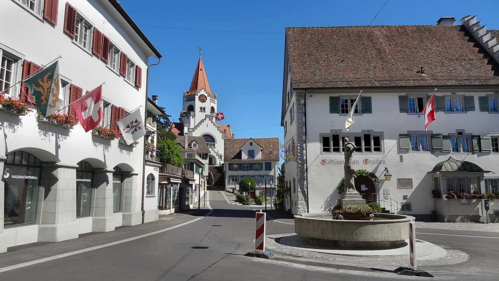 Kirchgasse und Stadtkirche, Weinfelden